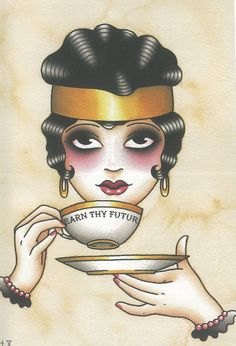 Angelique Houtkamp-Tatt inspired art , take a sip. #AngeliqueHoutkamp #TattooFlash #Flash