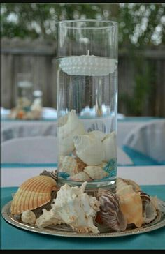 Well Known accounted for quinceanera party decorations Recommended Site Beach Theme Centerpieces, Simple Wedding Centerpieces, Quinceanera Centerpieces, Quinceanera Themes, Beach Wedding Favors, Diy Wedding, Wedding Reception, Wedding Flowers, Hand Painted Wine Glasses