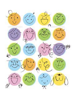 丸の人々の顔 (c)Formmart Love Doodles, Kawaii Doodles, Drawing People Faces, Pen Illustration, Doodle Icon, Bullet Journal Ideas Pages, Doodle Drawings, Step By Step Drawing, Drawing For Kids