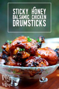 Sticky Honey Balsamic Chicken Drumsticks