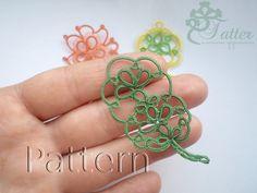 Etsy の Tatting pattern Oak Leaf Pendant by JTatter