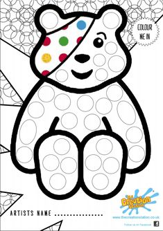 Children In Need Colouring In Sheets