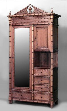 Bamboo faux bamboo cabinet/case-piece armoire pine.  Love it.