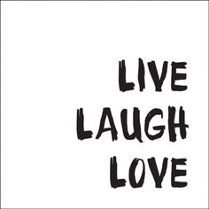 Live laugh love - idézetes csempematrica