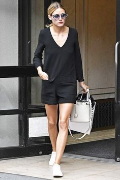 Olivia Palermo black dress