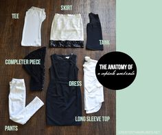 The Anatomy of a Capsule Wardrobe I Part 2 of the How To Build A Capsule Wardrobe Series.  Click here to read the rest! http://greaterthanrubies.net/how-to-build-a-capsule-wardrobe/