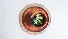 Round Braided Hemp Placemat: Wheat