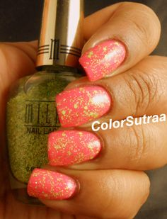 MILANI Spring 2014 collection : Swatches and Review (PART II) Sugar Coated (over Splendid Strawberry)