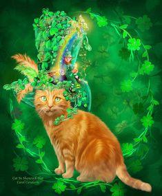 Cats In Fancy Hats Art By Carol Cavalaris http://avaxnews.net/funny/cats_in_fancy_hats_art_by_carol_cavalaris.html