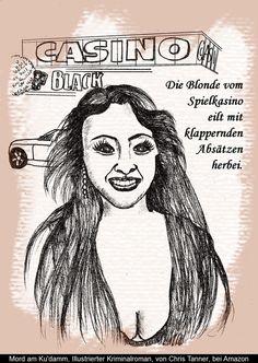 """Vor dem Spielkasino. """"Mord am Ku'damm"""". Illustrierter Kriminalroman. / Before the casino. """"Murder on the Kurfürstendamm"""". Illustrated detective novel. www.gutenachtgeschichten24.com"""