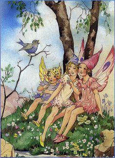 Vintage Fairy Illustration--Dorothy Wheeler--Blue Bird