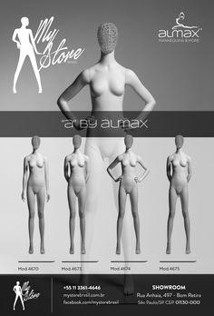 """A coleção """"A"""" by Almax apresenta manequins femininos com design exclusivo de alta qualidade de produção.  A My Store Brasil é distribuidora exclusiva da Almax Mannequins Italy no país.  #mystorebrasil #almax #exclusividade #manequinsdomundo"""