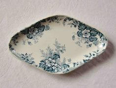 French antique transferware ironstone small serving dish