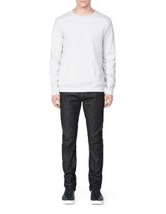 CUZ SWEATSHIRT-Men's sweatshirt in cotton fleece blend. Features round neckline with ribbed trim. Below-hip length. Men's Sweatshirts, Tiger Of Sweden, Cotton Fleece, Neckline, Fitness, Plunging Neckline, Keep Fit, Rogue Fitness