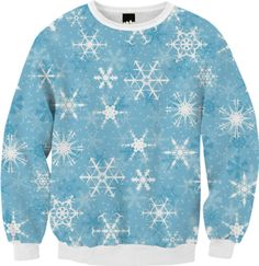 Snowflakes Sweatshirt - Available Here: http://printallover.me/collections/sondersky/products/0000000p-snowflakes-4