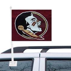 Florida State Seminoles Car Flag  * NEW LOGO #FloridaStateSeminoles  #GoNoles #FSU #JockUniversity