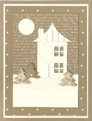 Don't you love the kraft and cream color pallet used on this card? So beautiful!