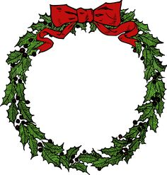 December Wreath by @j4p4n, A lovely little wreath. I suppose it doesn't have to be only used to celebrate Christmas, it's just something people put up in December? I coloured this one, the original source was black and white., on @openclipart