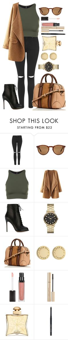 """""""Untitled #1202"""" by fabianarveloc on Polyvore featuring Topshop, Oliver Peoples, Onzie, Gianvito Rossi, Marc by Marc Jacobs, Dolce&Gabbana, Hermès and Bobbi Brown Cosmetics"""