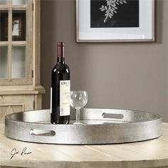 Uttermost Bechet Round Silver Tray (19997)