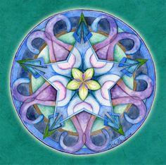 "The Good Happens Mandala ""Allow it. Praise it! Notice it. Celebrate it!"""