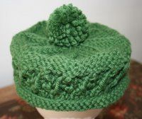 Free Knitting Pattern - Hats: Green Pillbox Hat