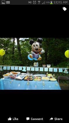 Mickeys food table