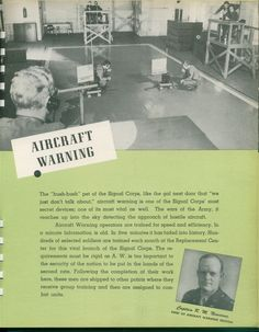 Capt. R. M. Newsome, Chief of Aircraft Warning Section
