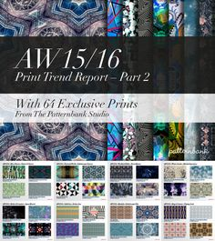 Autumn/Winter 2015/16 Print Trend Report Part 2 PDF Download trend forecasts
