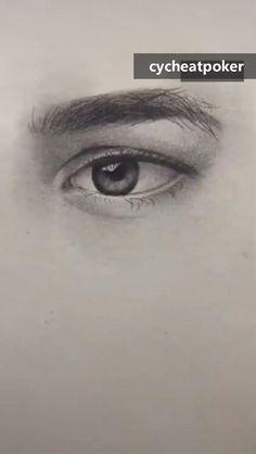 Art Drawings Beautiful, Dark Art Drawings, Art Drawings Sketches Simple, Pencil Art Drawings, Realistic Drawings, Eye Drawing Tutorials, Sketches Tutorial, Art Tutorials, 3d Art Drawing