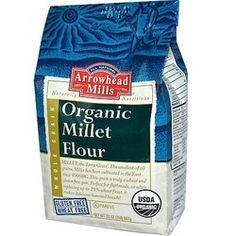 Organic Baking Flour Gluten Free Flour Arrowhead Mills Millet Bread Flour 6 2 pound Bags Enjoy Arrowhead Mills Og2 Millet Flour (6x32Oz). Arrowhead Mills Millet Flour contains vitamins and minerals. Made from gluten free ingredients, it is perfect for flatbreads, or when combined with up to 50% wheat flour, it makes delicious, nutritious leavened breads!. Note: description is informational only. Please refer to ingredients on the product before use. Please address any health or dietary…