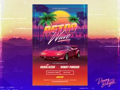 """Check out my @Behance project: """"Retrowave 80's Synthwave Flyer Template"""" https://www.behance.net/gallery/51756371/Retrowave-80s-Synthwave-Flyer-Template"""