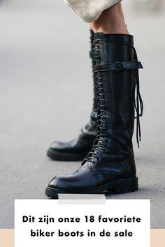 De stoere laarzen zijn onwijs populair. Zo ook in 2021. Nu hoef je geen fortuin uit te geven om een fijn paar aan te schaffen. Deze 18 laarzen shop je gewoon in de sale. Het zal je vast niet ontgaan zijn: de sale is begonnen. Ook op Fashionchick.nl scoor je de mooiste items in de uitverkoop. Zoals onze favoriete boots van het seizoen. Jij blij en je portemonnee blij. Dit zijn onze 18 favoriete biker boots uit de sale. Welk paar belandt in jouw winkelmandje? Biker Boots, Combat Boots, Boots For Sale, Shop Now, Fall Winter, Outfits, Shopping, Shoes, Fashion