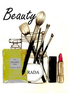 Fashion illustration. Beauty