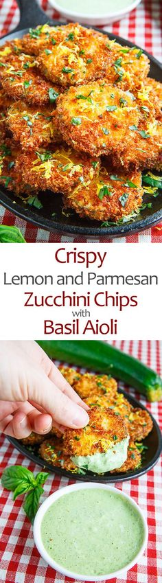 Crispy Lemon Parmesan Zucchini Chips with Basil Aioli food clean eating food healthy food ideas food photography food plan food recipes Veggie Recipes, Appetizer Recipes, Vegetarian Recipes, Cooking Recipes, Lemon Recipes, Vegetarian Cooking, Shrimp Recipes, Recipes With Basil, Recipes With Zucchini