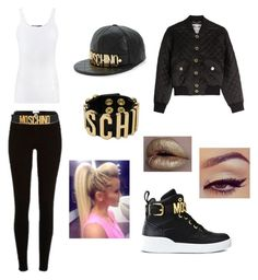 """""""Untitled #52"""" by k-eaze ❤ liked on Polyvore featuring Moschino, River Island and Vince"""