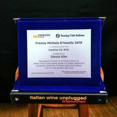 """italianwineunpluggedWe are thrilled to announce that @steviekim222 — mastermind behind the collective efforts in #ItalianWineUnplugged — has received the """"Premio Michele D'Innella 2019"""" for the great work in educating foreign professionals and #winelover-s about #ItalianWine and its #nativegrapes!  Grazie mille @vinibuoni and @touringclub , Stevie has been awarded the prize during the @meranowinefestival_official in full swing in #altoadige until Nov 13th! Italian Wine, Stevia, Essie, Inventions, Sustainability, Effort, Innovation, Environment, Science"""