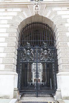 Londontowne - near Westminister Abbey Entrance Doors, Doorway, Antique Doors, House Doors, Come And Go, Arbors, Door Knockers, Garden Gates, Pathways