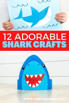 Whether you're looking for shark week activities for kids, shark week crafts, or shark crafts, you'll love all these shark crafts for kids! You can find shark crafts for preschoolers and shark crafts for toddlers. If you need shark activities for kids, shark activities for preschoolers, or shark activities for kindergarten, all these shark activities are great! They're perfect for ocean crafts for kids, summer crafts for kids, or beach crafts for kids, too! Beach Crafts For Kids, Under The Sea Crafts, Toddler Crafts, Preschool Crafts, Kids Crafts, Shark Week Crafts, Shark Craft, Shark Activities, Crab Crafts