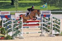 Reed Kessler and Ligist won the 1.45m Open Jumper class at the Kentucky Spring Classic. (Photo by Rebecca Walton/PMG)
