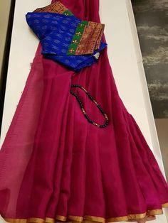Saree Styles, Blouse Styles, Kerala Saree Blouse Designs, Latest Saree Blouse, Simple Sarees, Dress Neck Designs, Elegant Saree, Chiffon Saree, Fancy Sarees
