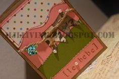 """Le bebe"" baby shower handmade card by mjlliving.blogspot.com"