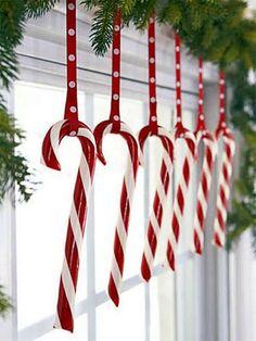 decorazioni natalizie con i candy cane