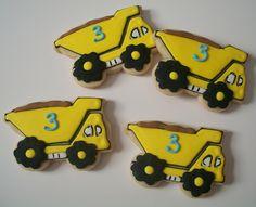 Dump truck cookies