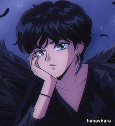 V - Black Swan Anime Version by hanavbara 90 Anime, Kawaii Anime, Anime Art, Instagram Kawaii, Taehyung Fanart, Bts Taehyung, Catty Noir, Japon Illustration, Anime Version