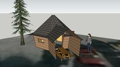 10m2 Camping Cabin - 3D Warehouse