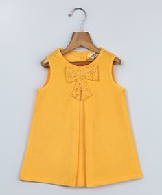 Look at this Yellow Bow Swing Dress - Infant on #zulily today!