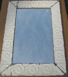 tin ceiling tile mirror