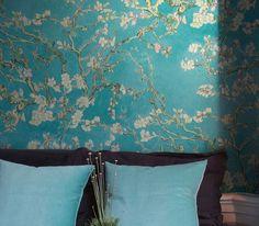 VanGogh Blossom | Papel de parede floral | Padrões de papel de parede | Papel de parede dos anos 70