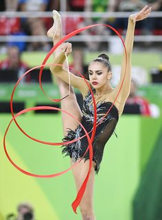 Russia's Margarita Mamun performs during the rhythmic gymnastics individual allaround qualification round at the Rio de Janeiro Olympics on Aug 19...